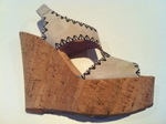 Wedges-cork heel